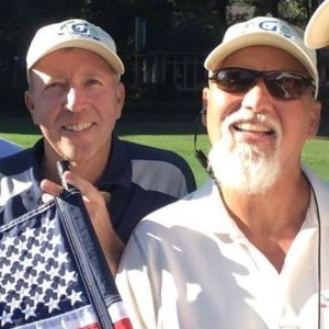 Rich O'Brien (left) and Fred Gutierrez (right) playing golf with On-Course Foundation event at Dataw Island CC.
